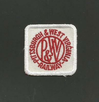 Pittsburgh & West Virginia  Railway  Railroad Patch 2    ""