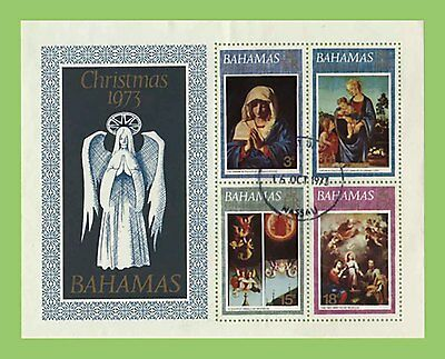 Bahamas 1973 Christmas miniature sheet used