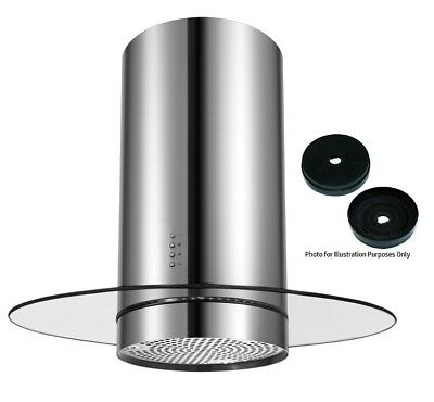 Cookology CYL905RGL 90cm Round Glass Island Chimney Cooker Hood & Carbon Filters