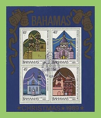 Bahamas 1989 Christmas miniature sheet used