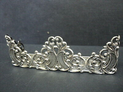 Dollhouse Fireplace Fender/ Silver