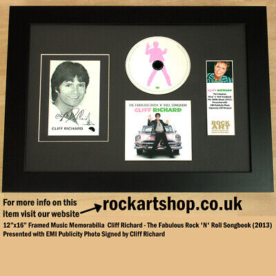 Cliff Richard SIGNED Photo The Fabulous Rock n Roll Songbook CD COA Autographed