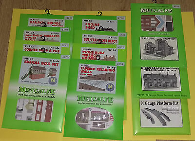 Brand New and Unmade Metcalfe N Gauge Model Railway Buildngs