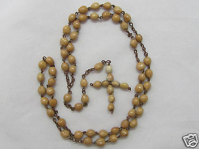 † Nun Made Antique Mother Teresa's Favorite & Job's Tears Seed Simple Rosary †