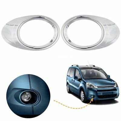 Citroen Berlingo fog light cover round trim chrome / Left&Right