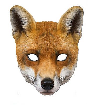 Fox Animal 2D Card Party Face Mask Fancy Dress Up