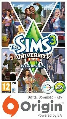The Sims 3 University Life Expansion Pack Pc And Mac Origin Key