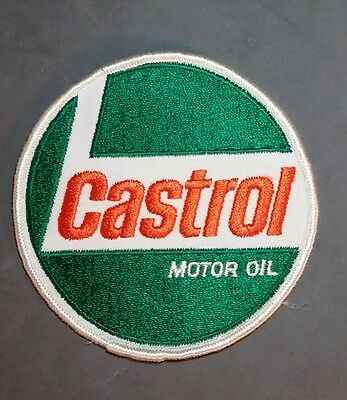"""Round Castrol motor oil patch 4"""""""