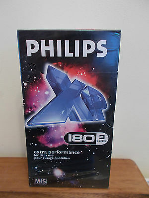 New Factory-Sealed Phillips XP Extra Performance VHS Videos 180 Mins x3