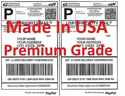 200 Premium Shipping Labels-Made in USA-Self Adhesive-USPS UPS FED-8.5x11