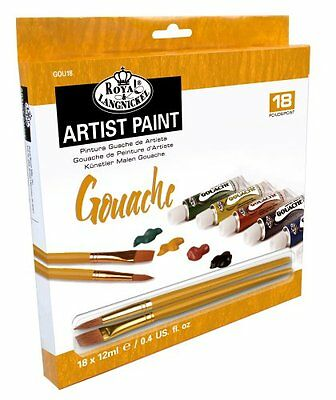 Royal & Langnickel 12ml Assorted Gouache Paints Pack of 18