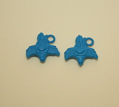 2 Vtg Blue Plastic Toy Gumball Machine Charm Sylvester WB Looney Tunes 1970s NOS