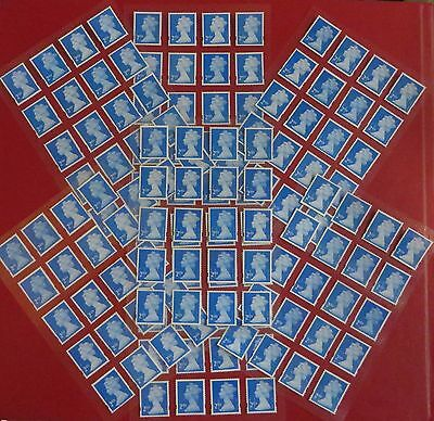 100 2nd Class Stamps Unfranked Off Paper With Original Gum Easy Peel And Stick