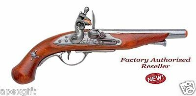 Authentic Colonial 18TH Century French Pirate Flintlock Pistol Non-Firing Gun