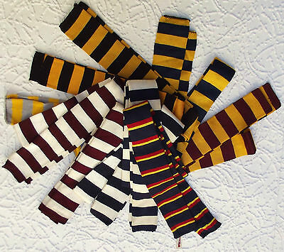 Square end tie Vintage Art Deco FOUR IN HAND teddy boy striped 1910s 1920s 1930s