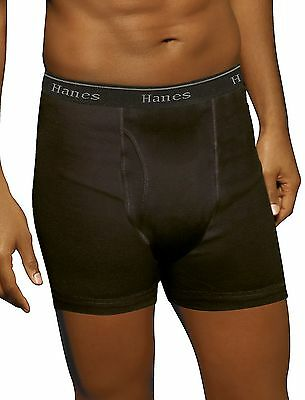 Hanes Ultimate Men's TAGLESS No Ride Up Boxer Briefs with Comfort Flex Waistband