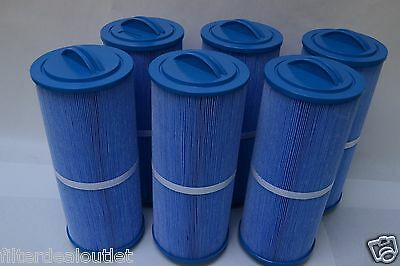 6 PACK POOL/SPA FILTER FIT:Unicel 5CH-352,FC-0196,PPM35SC-F2M ANTIMICROBIAL BLUE
