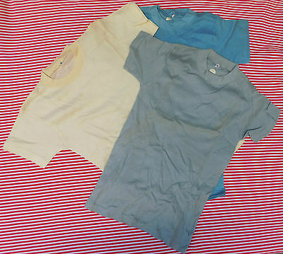 Vintage tee shirt Childrens sports vest UNUSED 1960s boys girls top SHOP SOILED
