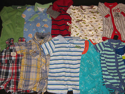 Baby Boys NB 0-3 Months Rompers One Piece Outfits Spring Summer Clothes Lot S16