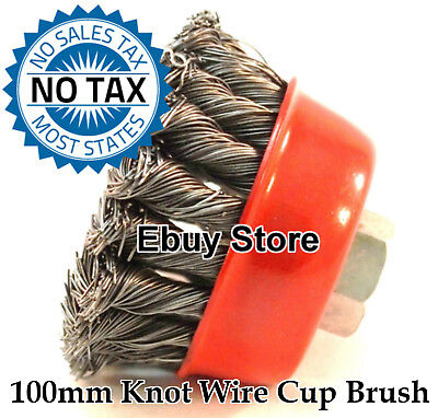 "4"" Twist Cup Brush Twist Wire Wheel Angle Grinder"