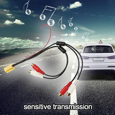Car 6 Pin ISO 4 RCA Aux-in Cable Audio Adapter For Skoda Fabia Octavia MFD P3A8