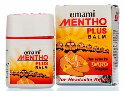 Emami Mentho Plus Balm Effective in All kind of Pains Headache Ayurvedic 9ml