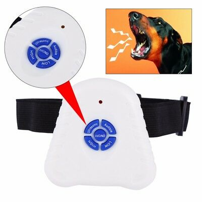 Ultrasonic Anti Stop Dog Barking Collar Detterrent Bark Control Training Collar