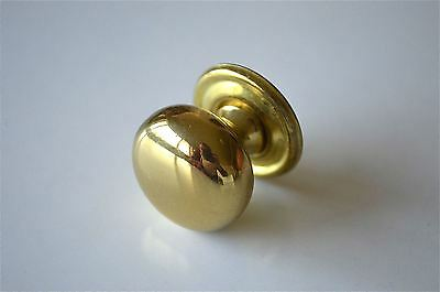 A good quality antique style brass screw in furniture knob drawer door MK8