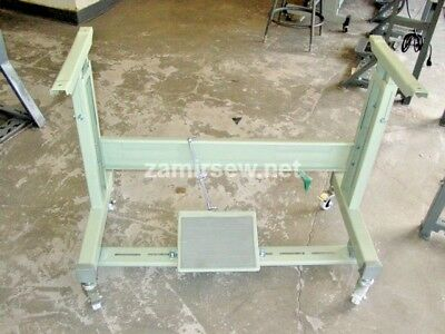 Industrial Sewing Machine T Leg Stand With Casters New Juki / Consew / Pfaff