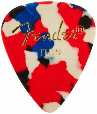 Fender 351 Classic Celluloid Guitar Picks - CONFETTI - THIN - 144-Pack (1 Gross)