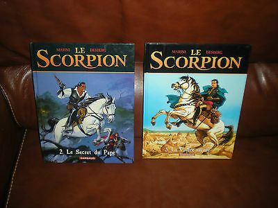Le Scorpion - Lot De 2 Tomes N°2 Et 5 En Reeditions - Marini / Desberg