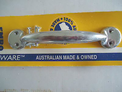 Door Pull Handle Chrome Polished Heavy Duty 175Mm Emro Australian Made Brand New