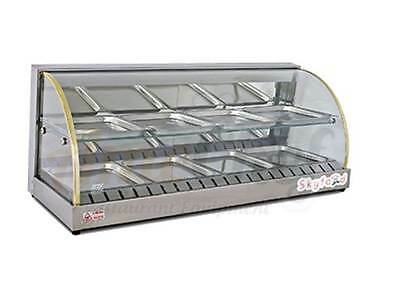 "New 43"" Hot Food Warmer Display Merchandiser Double Shelf SKYFOOD FWD2-43"