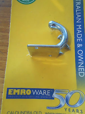 Robe Bathroom Hook Chrome Plated 30Mm With Screws Australian Made Brand New