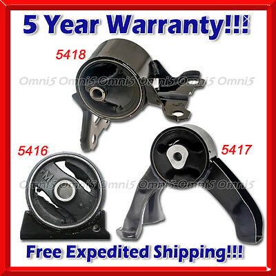 Rear Motor Low /& Up Trans Mount 09-13 TSX 2.4L MANUAL L594 For 08-12 Accord