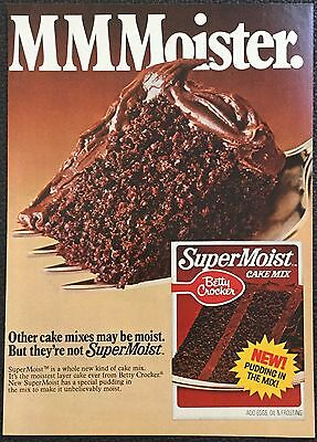 Vintage 1978 Betty Crocker Supermoist Cake mix Magazine Ad Print - MMMoister