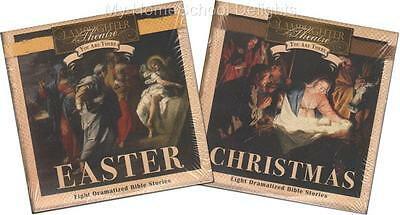NEW Lot 2 Lamplighter Theater You Are There Audio SETS 4 CD CHRISTMAS EASTER
