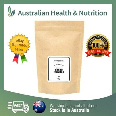 Loving Earth Raw Organic Cacao Powder - All Sizes + Free Shipping