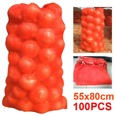 100 Net Sacks Vegetables Mesh Bags Logs Kindling Wood Carrot Onions Potato