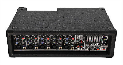 SWAMP Portable Powered Mixer - 19 inch Rack Mountable - 2x 100W Amplifier