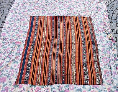 Antique Original Perfect Handmade Russian Full Silk Sim Textile
