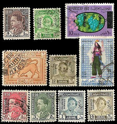 IRAQ Stamps GREAT LOT X 10 Obl.