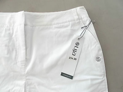 LIJA Ladies Golf Shorts White UK 14