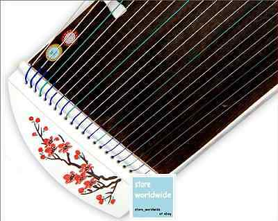 "RARE 21-String 40"" Travel-Size Ebony Wood Guzheng Chinese Zither, Koto (Style 1)"