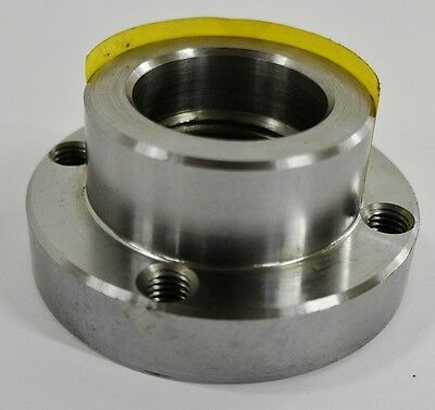"3-1/4"" Lathe Chuck Adapter Plate 1-1/2"" – 8 Spindle Mount Plain Back USA"