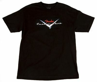 Fender T-Shirt - Custom Shop / Black - MEDIUM