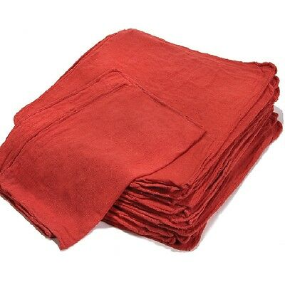 500 New Wipers Mechanics Rag Shop Rags Towels Red Large Jumbo 13X15