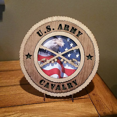 U. S. Army Cavalry Wall Tribute with Flag Background