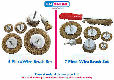 Wire Wheel Brush Set Rotary Wire Brush Wheel Cup Clean Surface Paint Grinder Set