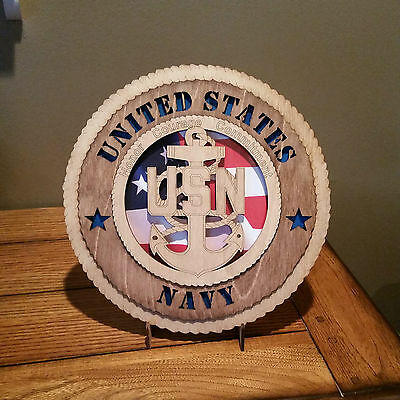 United States Navy Wall Tribute with Flag Background